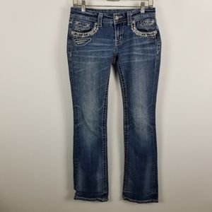 Miss Me Signature Rise Boot Cut Jeans 27x33